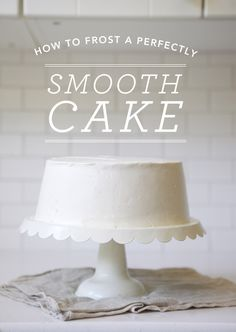 How to frost a perfectly smooth cake (Tutorial) by Oh Happy Day Cake Decorating Tips, Cookie Decorating, Beautiful Cakes, Amazing Cakes, Frosting Recipes, Cake Recipes, Cake Cookies, Cupcake Cakes, Car Cakes