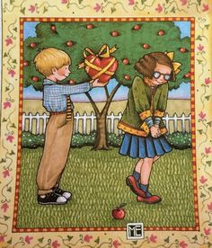 Be My Valentine-Large Handmade Fridge Magnet-Mary Engelbreit Artwork