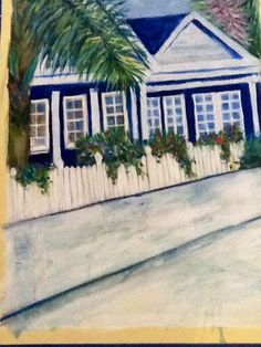 The Cottage Artwork by Artist Sharon Wood Acrylic on Canvas For Sale POA swoody@internode.on.net