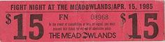 MEADOWLANDS GIANTS STADIUM FIGHT NIGHT VINTAGE TICKET APRIL 15, 1985