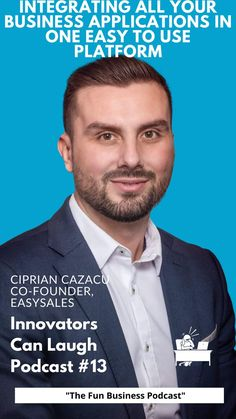 In this episode of Innovators Can Laugh, I sat down with Ciprian Cazacu, co-founder of EasySales. We discuss if pineapple belongs on pizza, who was the better student him or his brother, and the launch of an application that integrates different systems to make managing your business activity easier. Good Student, Co Founder, Easy To Use, Integrity, Hilarious, Things To Come, Business, Pineapple, Brother