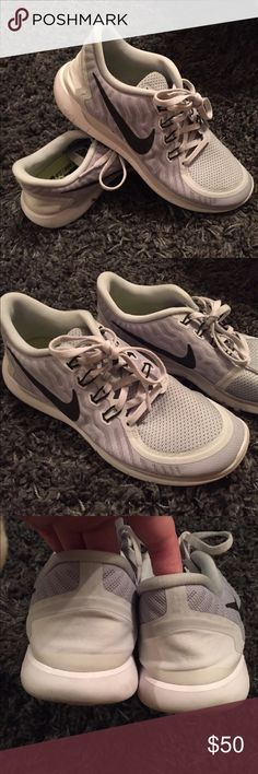 Nike Free Run 5.0 Grey Free Run 5.0 ❤ these are in excellent condition, worn maybe 4 times. I just own too many Nikes and never reach for these! They are size 7.5 in men's, they fit like an 8.5 in women's, could also fit a small 9. Any questions just ask! Smoke free, pet free home ❤ Nike Shoes Athletic Shoes