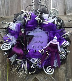 Hey, I found this really awesome Etsy listing at https://www.etsy.com/listing/191691058/halloween-wreath-disney-decor-maleficent