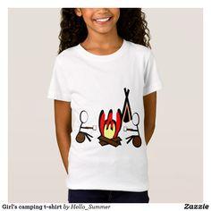 Girl's camping t-shirt
