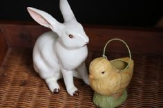 I love to shop estate sales and this vintage bunny is a favorite.  It should be great in our craftsman home