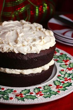 Chocolate Gingerbread Torte with Orange Mascarpone Whipped Frosting