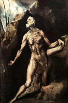 St. Jerome Penitent - El Greco 1614