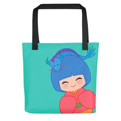 Look cute while grocery shopping with one of our tote bags!!! Chinese Horoscope Dragon Kokeshi - Tote bag