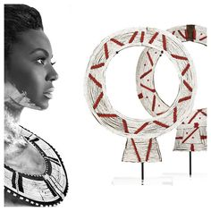 Beyonce in Flaunt Magazine dons a Masai collar similar to those we display on stands!