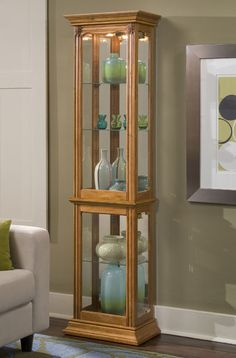 Curio Cabinet   Estate Oak | Pulaski | Home Gallery Stores