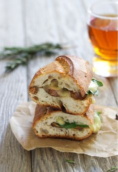 Mushroom Rosemary & Fontina Grilled Cheese : pair with soup for a comforting meal with incredible flavor!  www.makingthymeforhealth.com #vegetarian #comfortfood