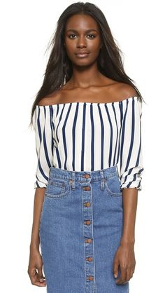 cupcakes and cashmere Eleni Off Shoulder Top