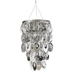 Anywhere Large Oval Shimmer Chandelier - Silver