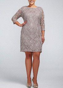 Vintage Inspired Bridesmaid dresses - by David s Bridal Long Sleeve Short  Dress cd38b30931