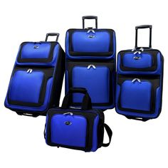 U.S. Traveler New Yorker 4pc Expandable Luggage Set - Blue