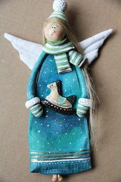 Salt dough by Paulina Silarow / OGdesign Świateczny Anioł no.8 -  Boże Narodzenie