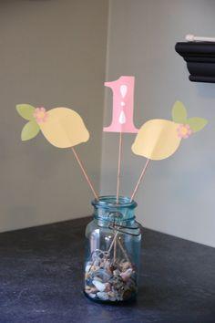Pink Lemonade Centerpieces Pink Lemonade Birthday by GiggleBees, $16.00