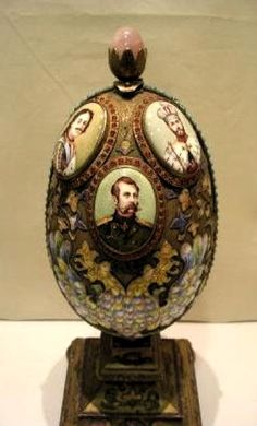 Unknown Egg 3, date unknown. Gold silver. Whereabouts unknown. Egg opens to reveal a beautiful sailing ship.