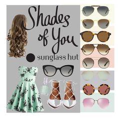 """Shades of You: Sunglass Hut Contest Entry"" by tally-stew ❤ liked on Polyvore featuring Ray-Ban, Prada, Giorgio Armani, Tiffany & Co., Miu Miu, Burberry, Essie and shadesofyou"