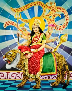 """There are three Hindu festivals this month including Navaratri, and that makes Manjari Sharma's """"Goddess Durga"""" (above), my NEWS OF WEEK. The Navaratri festival is dedicated to the worship of the Hindu deity Durga, or the Goddess of Victory of Good over Evil who rides on the back of a tiger."""