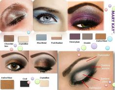 Various color looks with Mary Kay eye products. http://www.marykay.com/lisabarber68 call or text me 386-303-2400