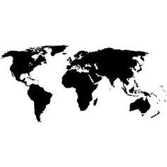 Black watercolor world map art print monochrome art print black world map vinyl wall art decal gumiabroncs Gallery