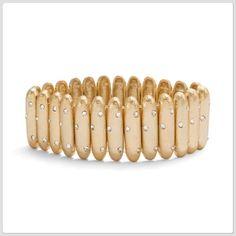 💋SALE💋 NWT Gold tone stretch bracelet Topped with tiny glass stones for extra sparkle.   zqonnizq Chico's Jewelry Bracelets