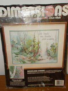Dimensions WOODLAND STREAM Woods Water Trees No Count Cross Stitch Kit 3960 #Dimensions #Frame