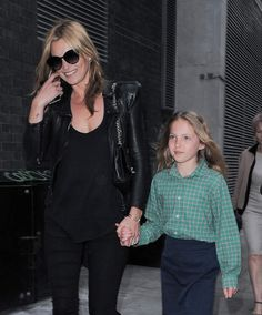 Kate Moss et sa fille Lila Grace ou le style rock british