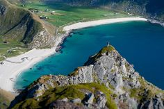 Haukland beach in Lofoten, Norway.