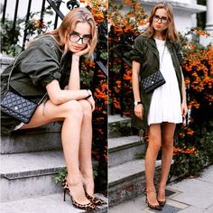 This outfit just clicks together, feminine but at the same time grungy and cool.