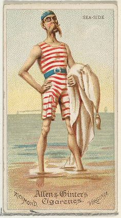 Sea-Side, from World's Dudes series (N31) for Allen & Ginter Cigarettes, 1888. The Metropolitan Museum of Art, New York. The Jefferson R. Burdick Collection, Gift of Jefferson R. Burdick (63.350.202.31.18)