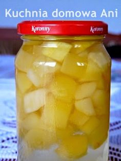 Kuchnia domowa Ani: Cukinia a'la ananas Pickles, Cantaloupe, Cucumber, Food And Drink, Fruit, Pineapple, Pickle, Zucchini, Pickling