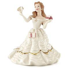 Lenox Disney Princess Belle Ornament Porcelain NIB Beautiful detailing