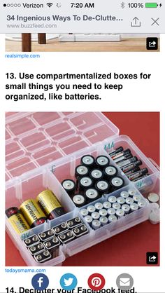 Organize small objects
