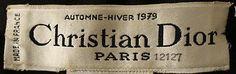 1979 Christian Dior Label at Metropolitan Museum of Art, NY via @jubaloo_