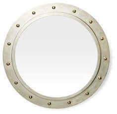 """$229 26"""" Paloma Wall Mirror, Silver"""