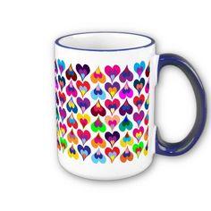 Pañuelos Familia® Chic Metallic. Un Toque Chic que le dará brillo a cualquier lugar. Hearts mug.
