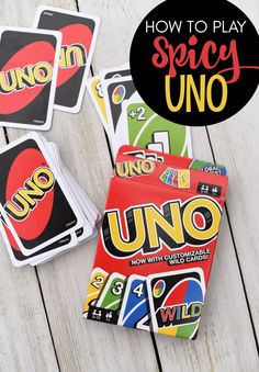 How to Play Spicy Uno-This spin on the traditional Uno game is SO much fun! Your… How to Play Spicy Uno-This spin on the traditional Uno game is SO much fun! Your family game nights just got a whole lot better. Family Card Games, Fun Card Games, Party Games, Family Games To Play, Games To Play Outside, Party Party, Adult Games, Games For Kids, Activities For Kids