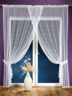 Sheer curtains looks very elegant and noble.