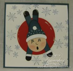 Stamp & Scrap with Frenchie: Punch Art Kids Sledding