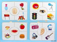 Резултат с изображение за five senses flashcard printable