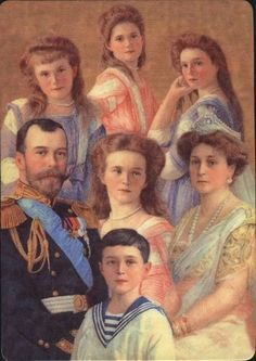 Tsar Nicholas II Romanov , Tsarina Alexandra Feodorovna Grand Duchesses Olga Nikolaevna Nov Jul Tatiana Nikolaevna Jun Jul Maria Nikolaevna Jun Jul Anastasia Nikolaevna Jun Jul And Tsarevich Alexei Nikolaevich Aug Jul Anastasia Romanov, Czar Nicolau Ii, Catalina La Grande, Tsar Nicolas, Familia Romanov, Grand Duchess Olga, House Of Romanov, Alexandra Feodorovna, Imperial Russia