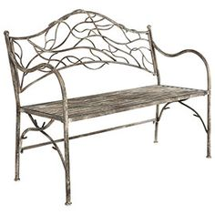 Tendril Metal Garden Bench