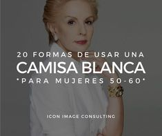 Inspírate con estas ideas para llevar una camisa blanca. Especial mujeres 50-60. Tips by Icon. Asesoría de imagen personal Medellín. presencial y online. Fashion Over, Look Fashion, Fashion Outfits, Womens Fashion, Fashion Tips, Office Outfits Women, Casual Outfits, Outfits Con Camisa, White Shirt Outfits
