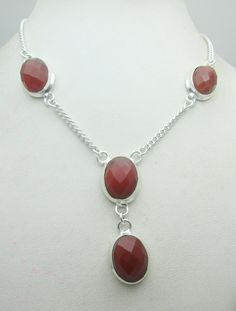 Silver Tone Metal Faceted Onyx Stone Gemstone Necklace Jewelry Fine Quality NK_210 29 GM ready to ship