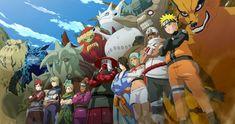 Naruto Manga Anime Characters 4K Background