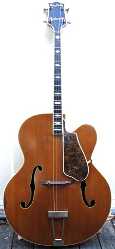 Gretsch Synchromatic Tenor Archtop Acoustic Guitar, Vintage 1953   Rare Archtop Tenor Guitar Cutaway
