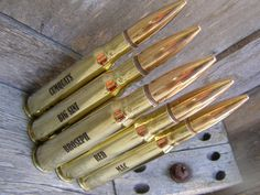 Groomsmen Gifts Engraved 50 Caliber Personalized by BottleBreacher