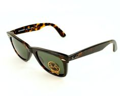 Ray Ban Sunglasses. Brown Acetate frames with Grey Green lenses. UV filter category: 3. Delivered with branded case. Measurements: 47-22-145 (lens-bridge-arms in millimeters)